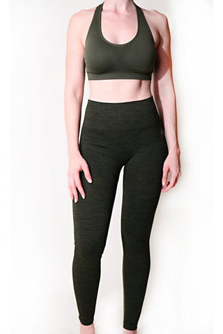 Deep Olive Compression Tights