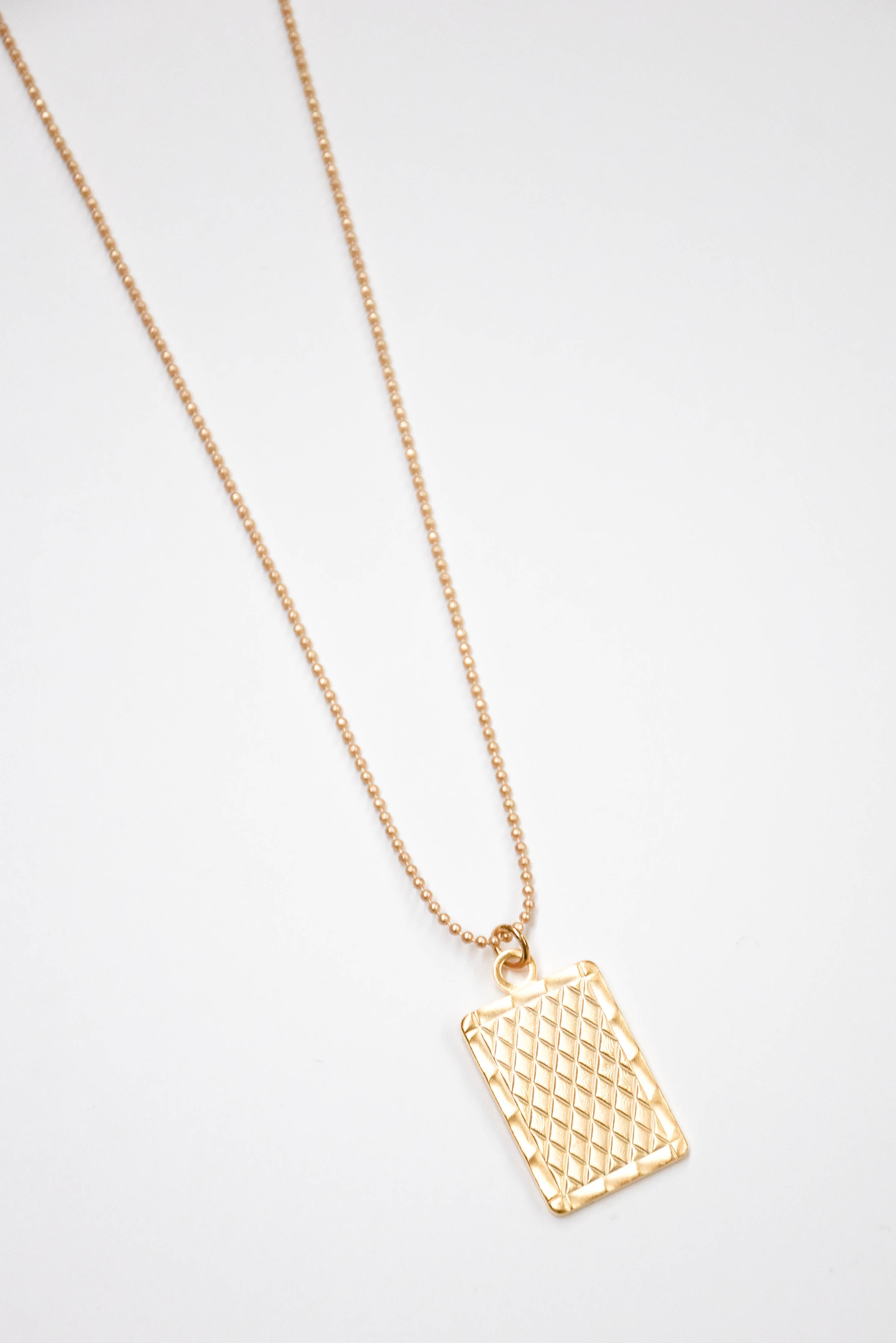 B. Alli Kaja Quilted Pendant Necklace