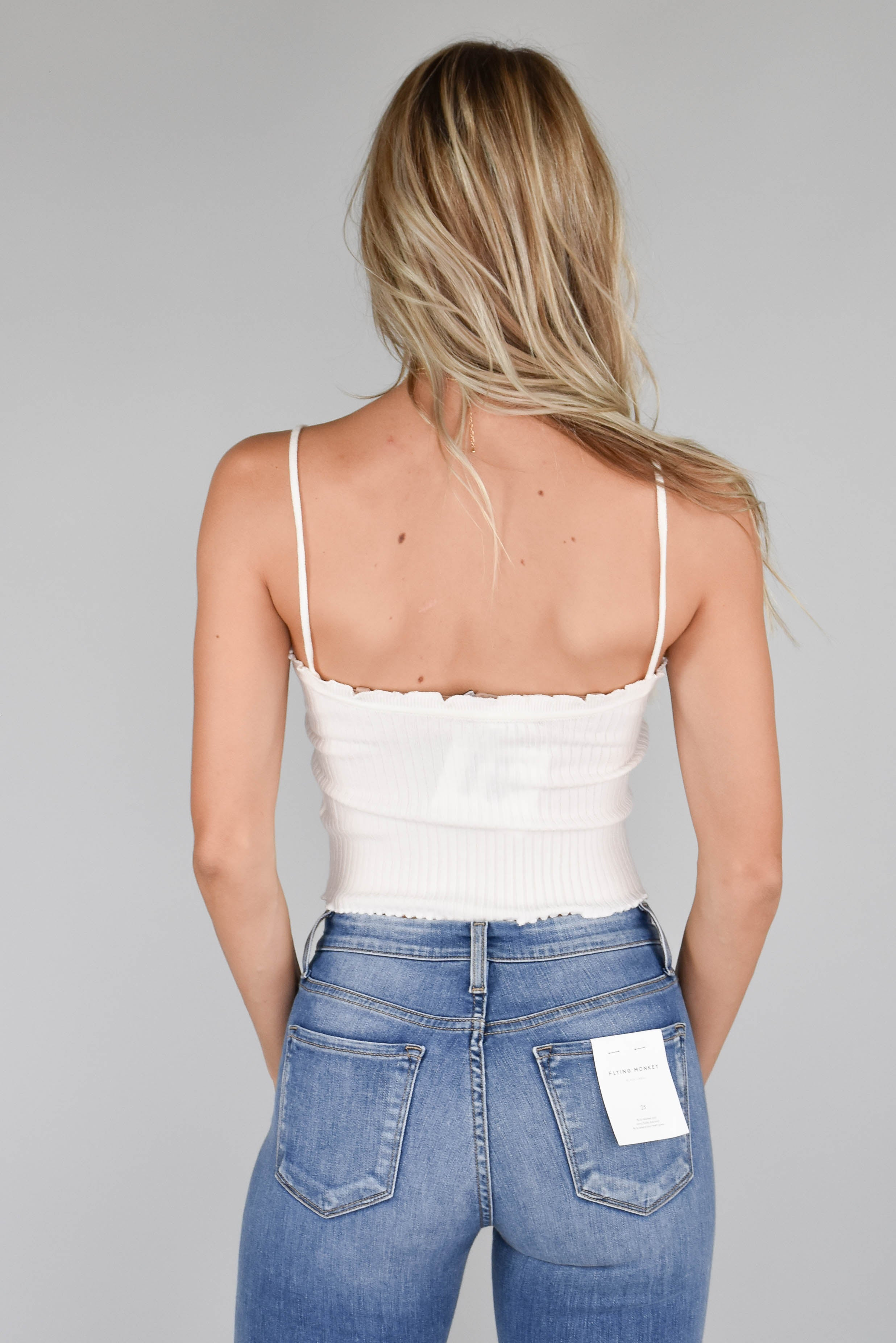 Oslo Ribbed Top (White)