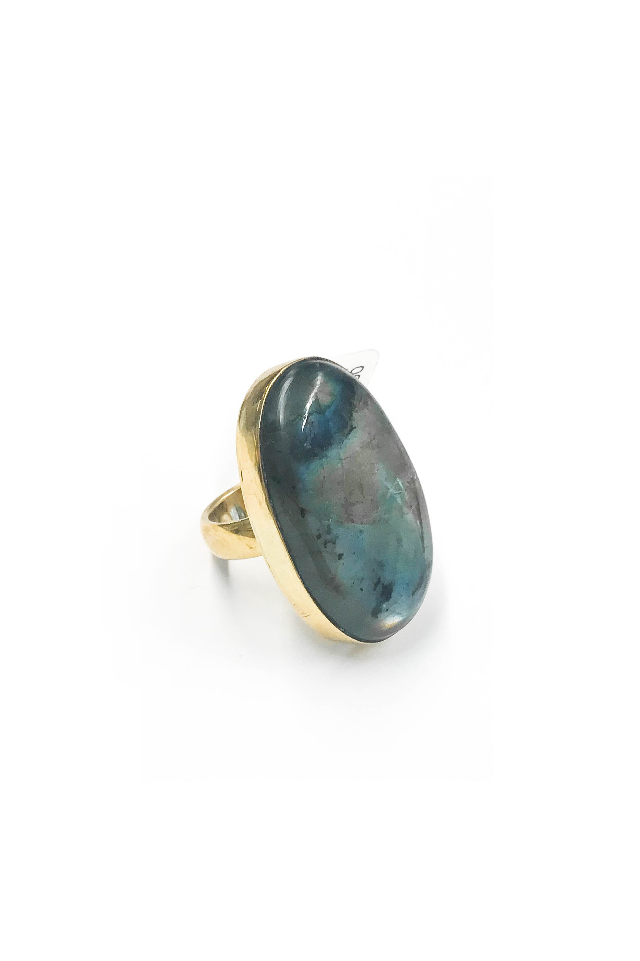 Baizaar Labradorite Freeform Oval Ring