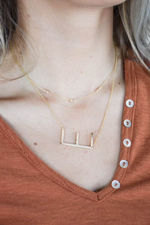 Horizontal Letter Necklace