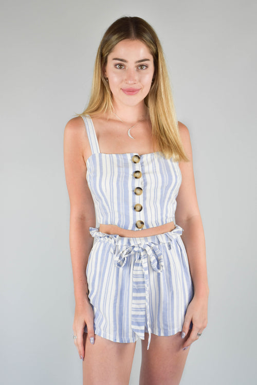 Camille Striped Crop Top