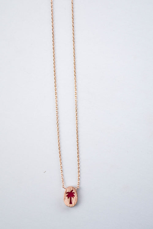 ETC Hot Palm Necklace (Gold)