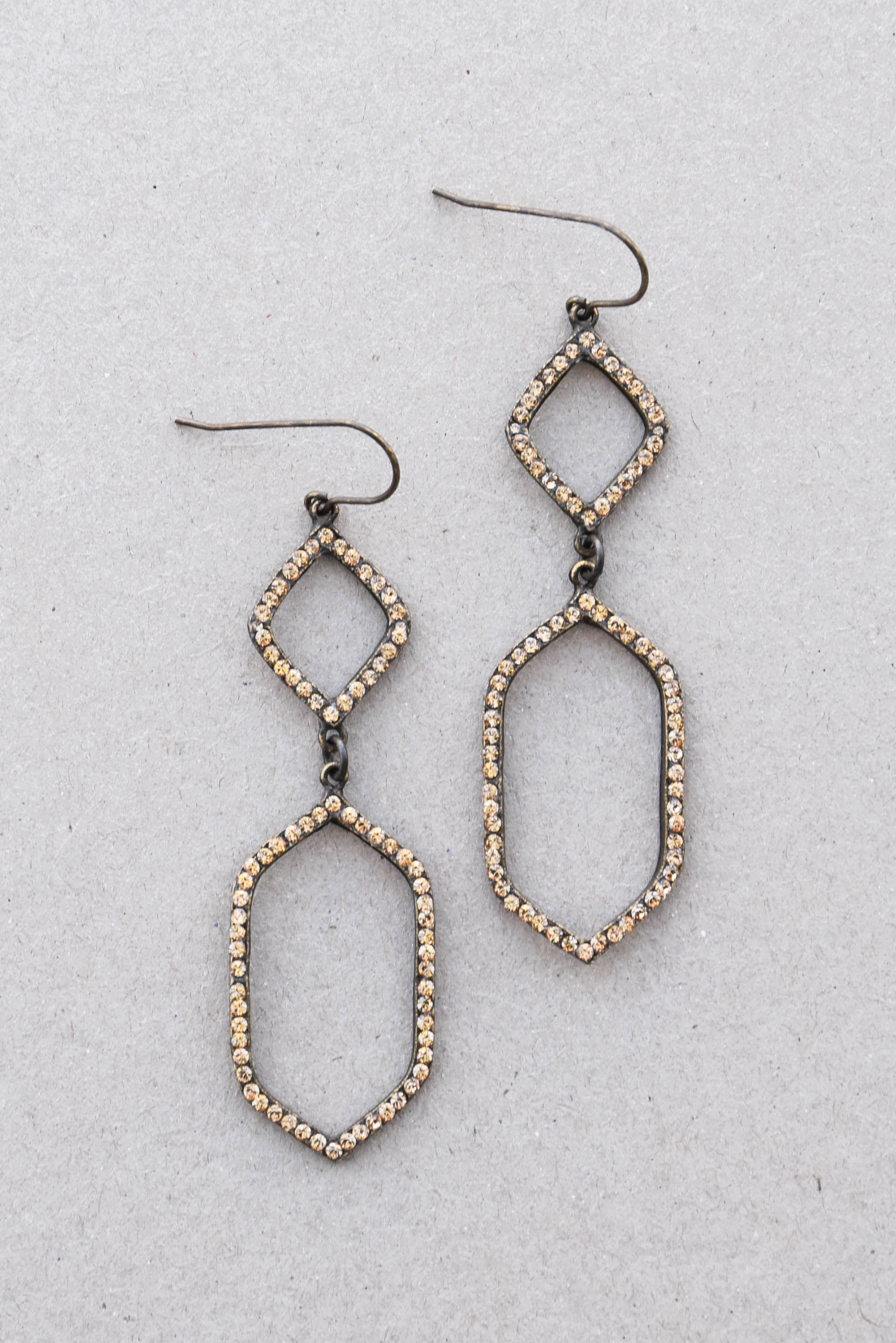 silver earrings orelia mini hoop pave london hexagon products