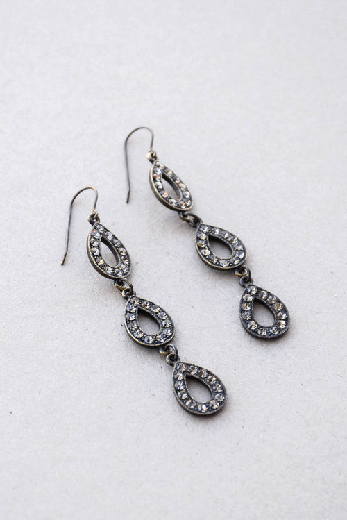 Rebel Tiered Teardrop Earrings