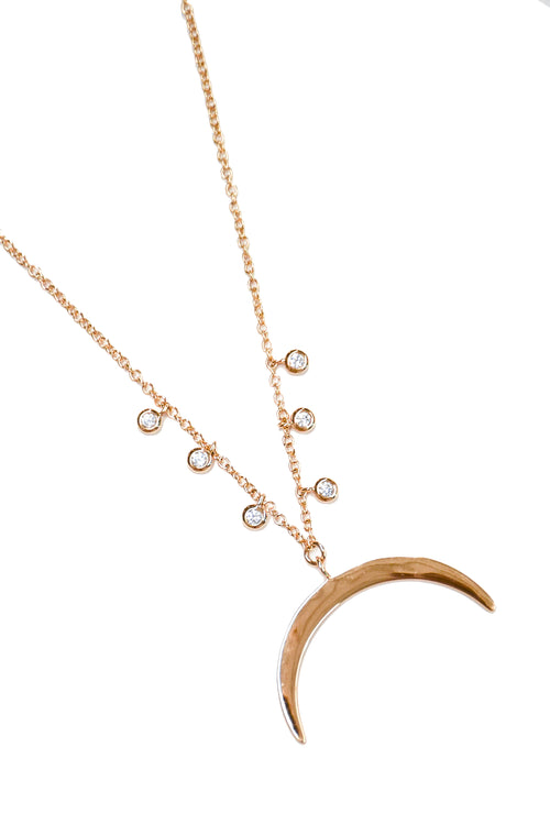 Elizabeth Stone Moon Shine Necklace