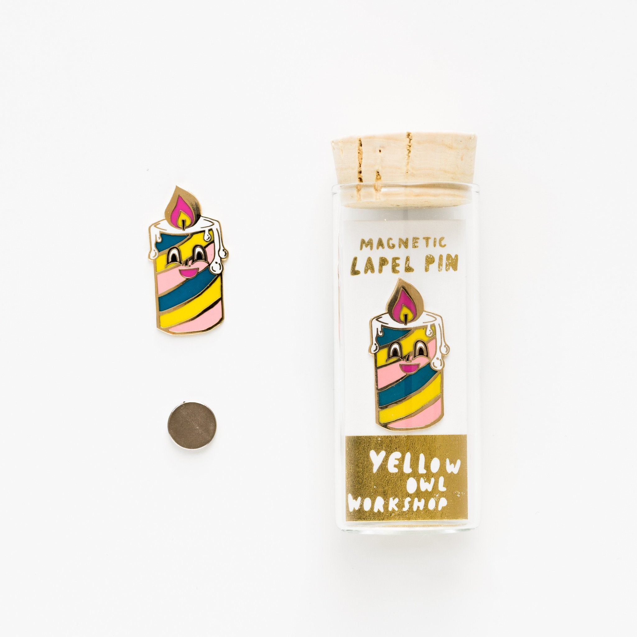 Yellow Owl Workshop Birthday Candle Lapel Pin