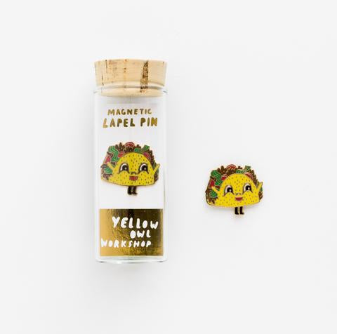 Yellow Owl Workshop Taco Lapel Pin