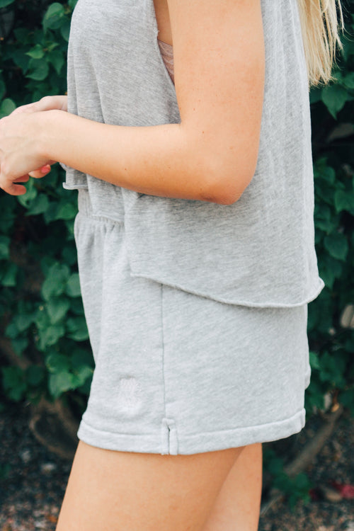 Wildfox Just Charge It Tank (Heather Gray) SALE