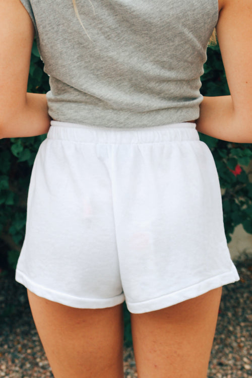 Wildfox Solid Sweatshorts (White) SALE