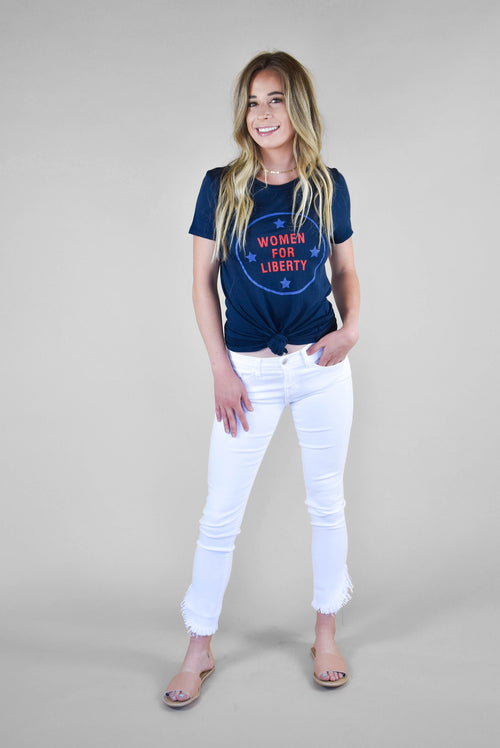 Michelle Matlock Women For Liberty Tee (Uniform Blue) SALE