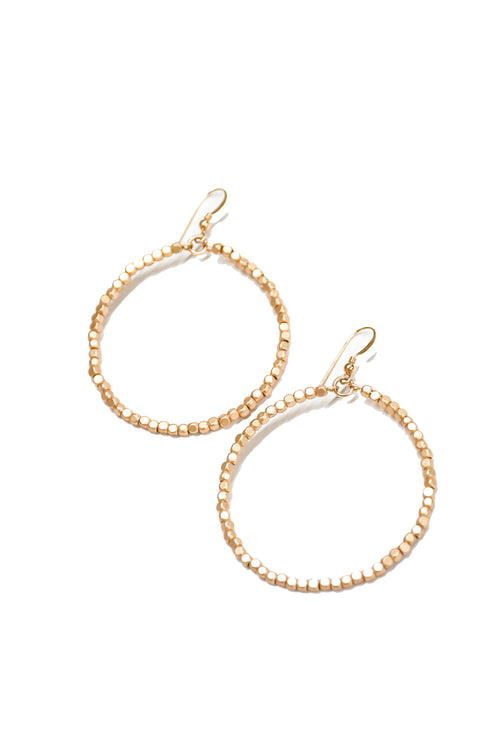 Love Poppy Victoria Gold Beaded Hoops