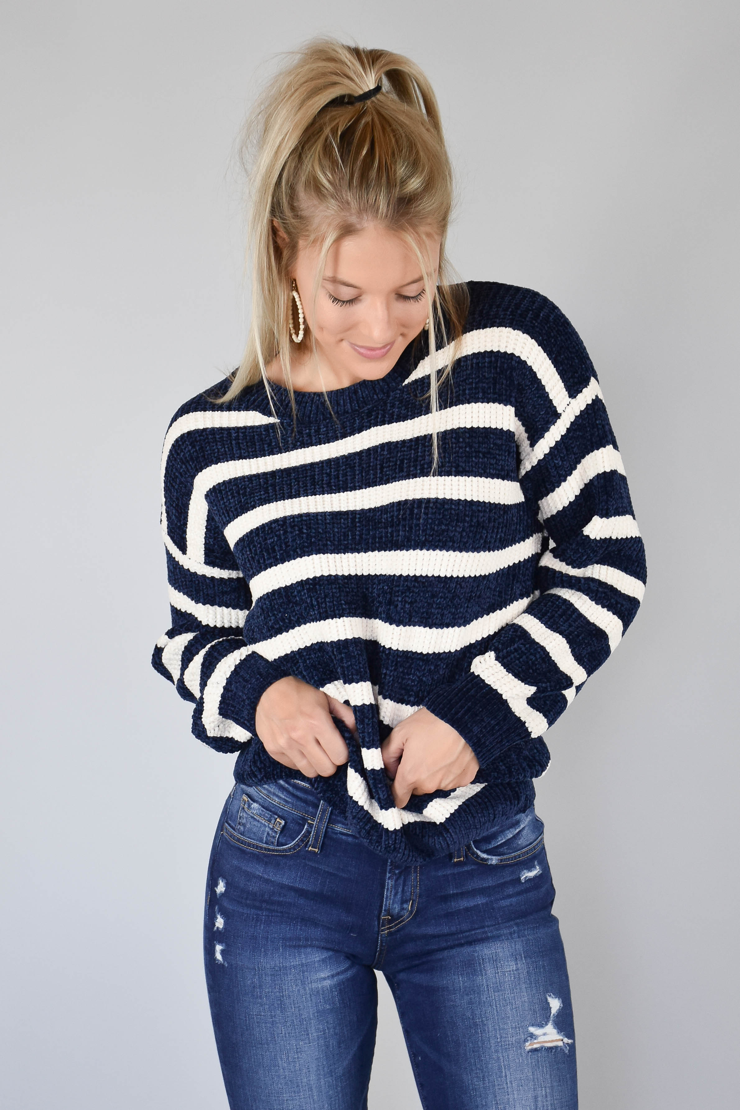 Shelly Striped Sweater