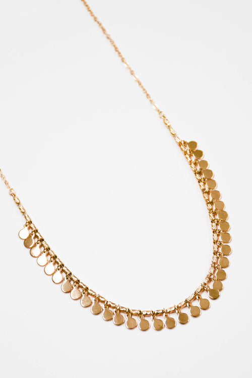 Penny Drop Shaker Necklace (Gold)