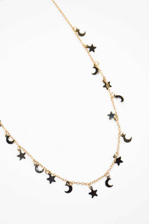 Stars And Moons Choker