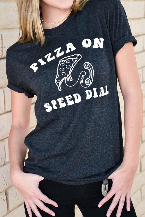 Fifth + Palm Pizza On Speed Dial Tee (Black) SALE
