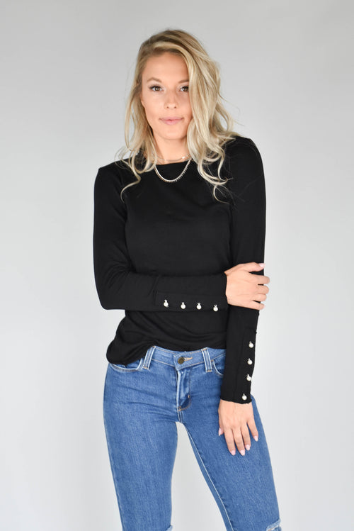 Michelle Pearl Long Sleeve (Black)