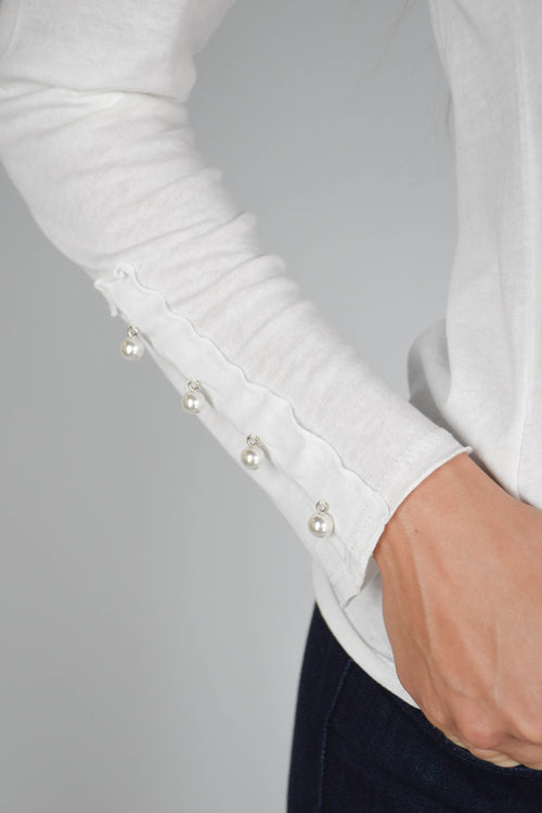 Michelle Pearl Long Sleeve (White)