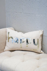 D.V. KAP Home Sequin Happy Lumbar Pillow