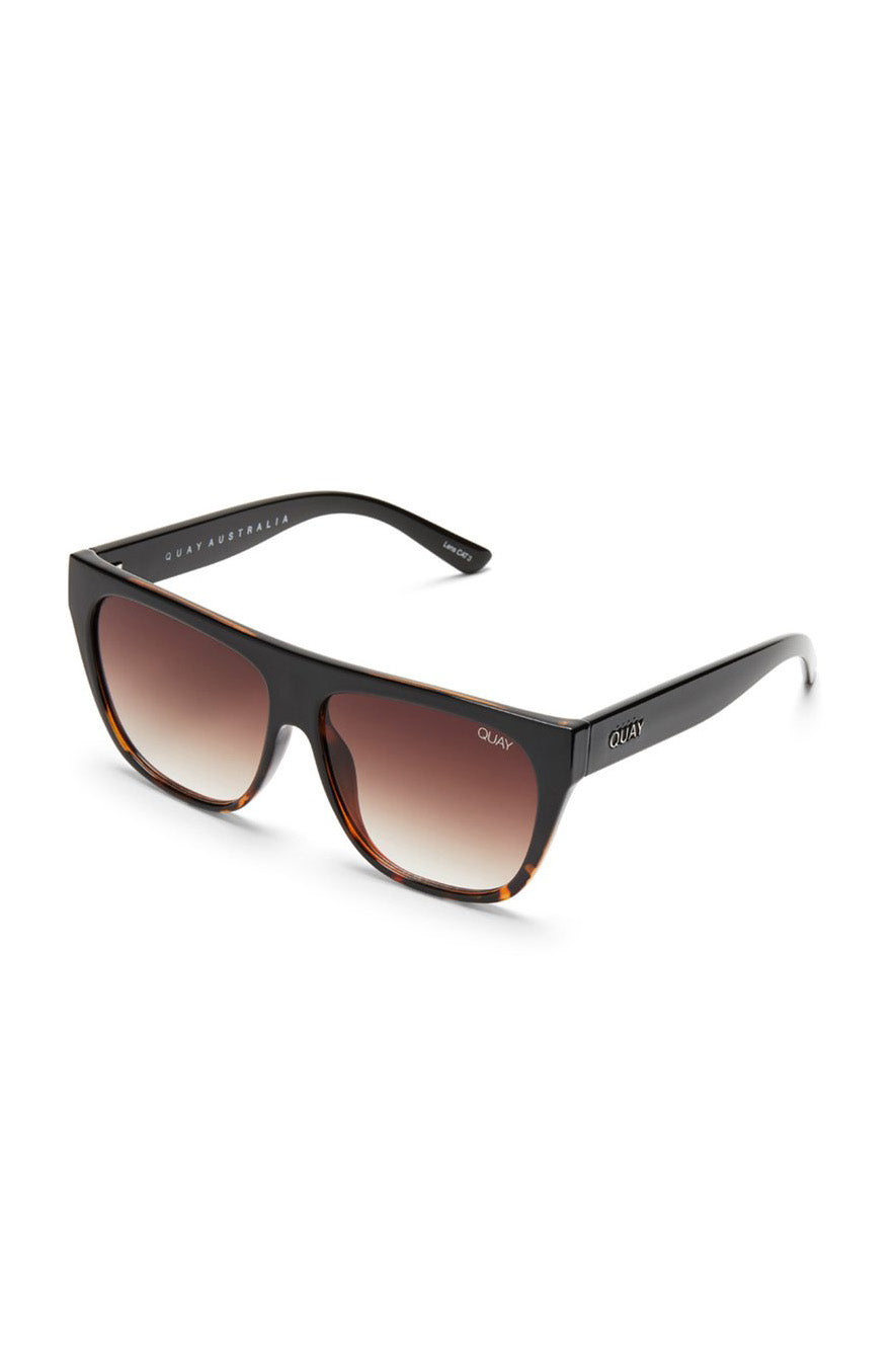 "Quay Australia ""Drama By Day"" Sunglasses (Black Tortoise Brown Fade)"