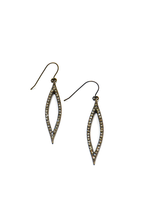 Rebel Teardrop Crystal Earrings