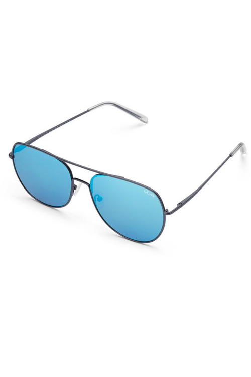 "Quay Australia ""Living Large"" Sunglasses (Gun Metal/Blue)"