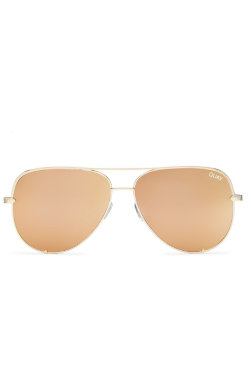 "Quay Australia ""High Key"" Sunglasses (Gold)"