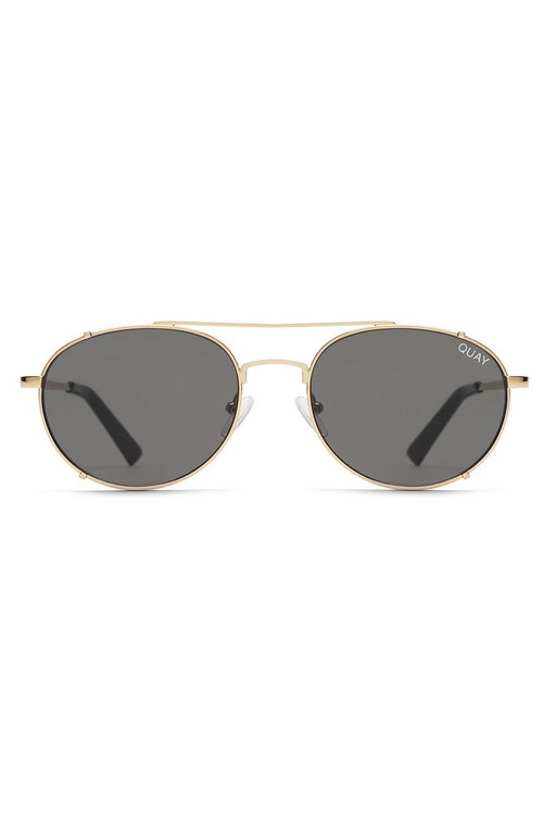 "Quay Australia ""Little J"" Sunglasses (Gold/Smoke)"