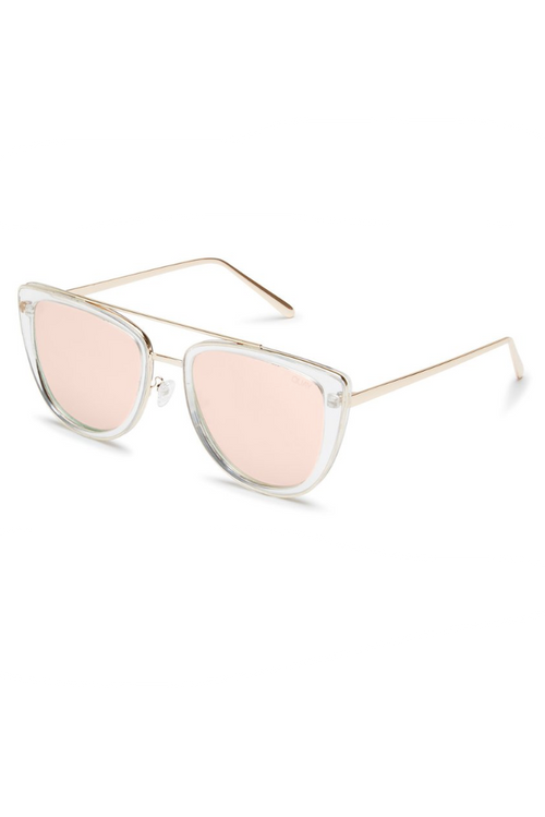 "Quay Australia ""French Kiss"" Sunglasses (Clear/Rose)"