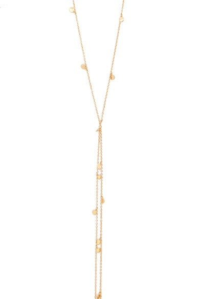 Elizabeth Stone Mini Coin Double Y-Necklace