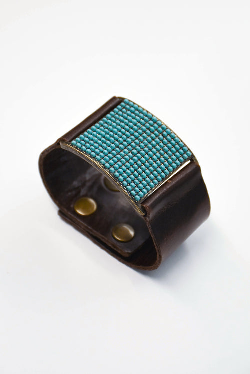 Rebel Small Square Turquoise Bracelet