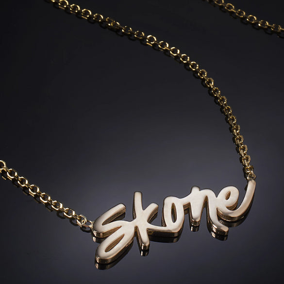 Skone Signature Nameplate Necklace