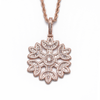Iced Snowflake Pendant in Rose Gold