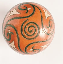Red Etched Ceramic Sphere
