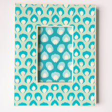 Blue Patterned Picture Frame