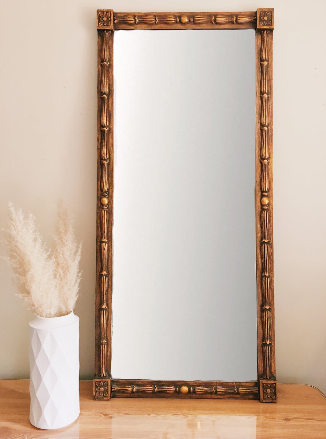 Gold Tone Regency Mirror