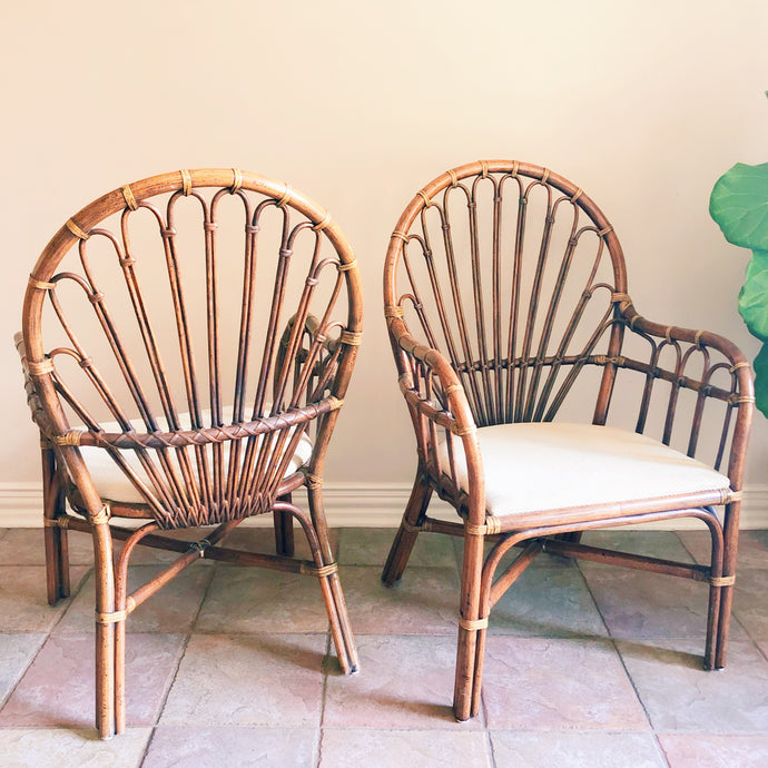 Pair of Vintage Rattan Chairs