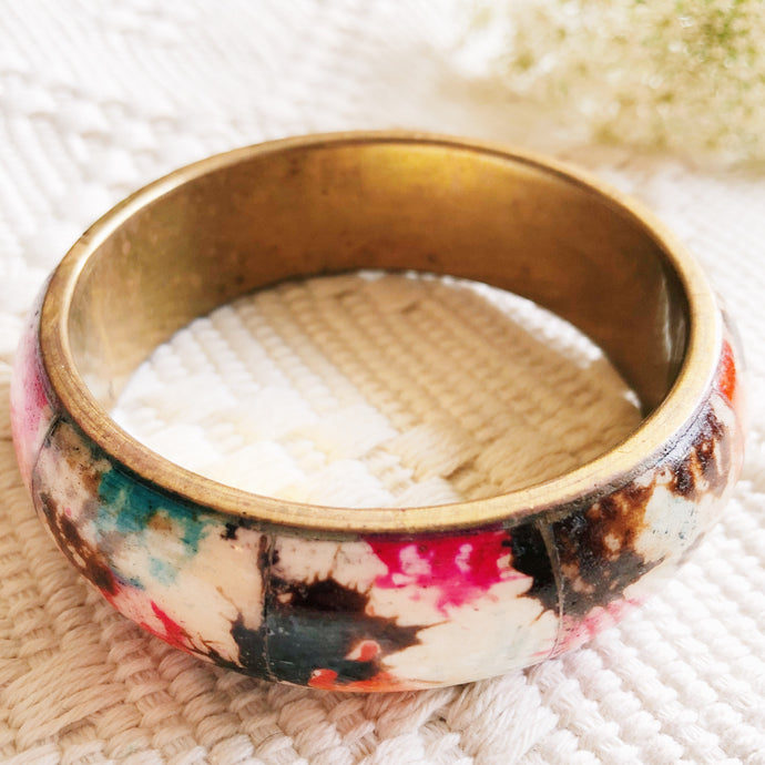 Multi Colored Splatter Bangle Bracelet