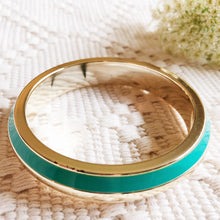 Cream and Turquoise Bangle Bracelet