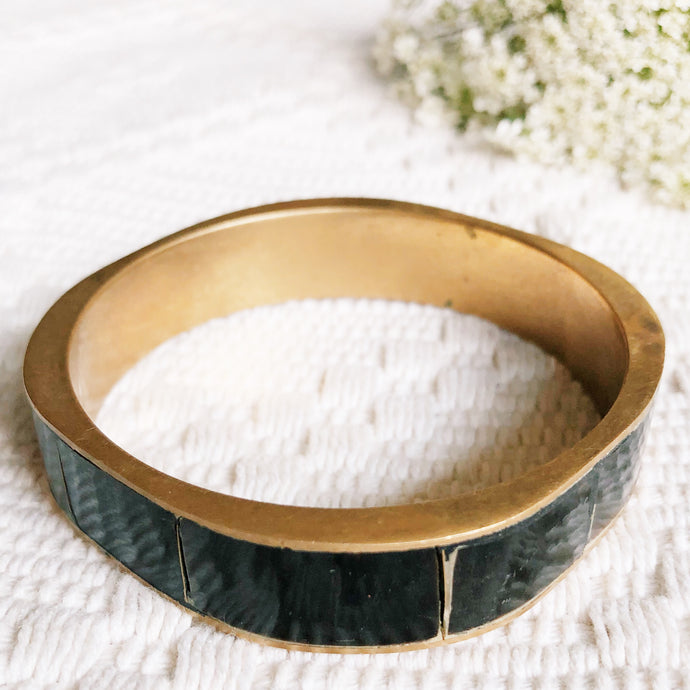 Vintage Dark Bamboo Style Bangle Bracelet