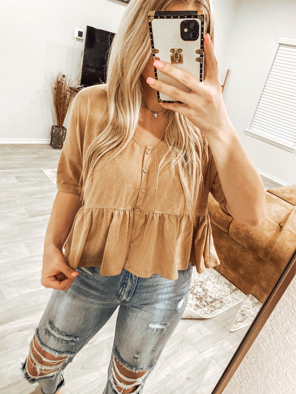 The Hailee Top - Taupe
