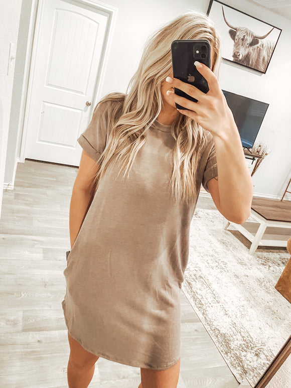 The Lacey Dress - Taupe