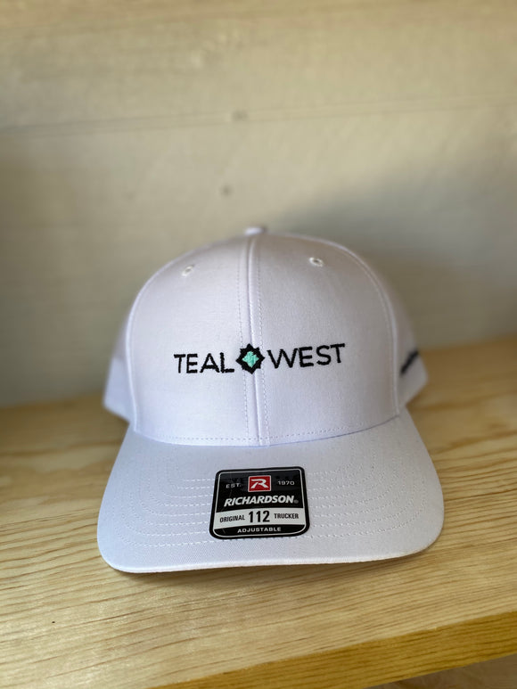 Teal West Cap - White
