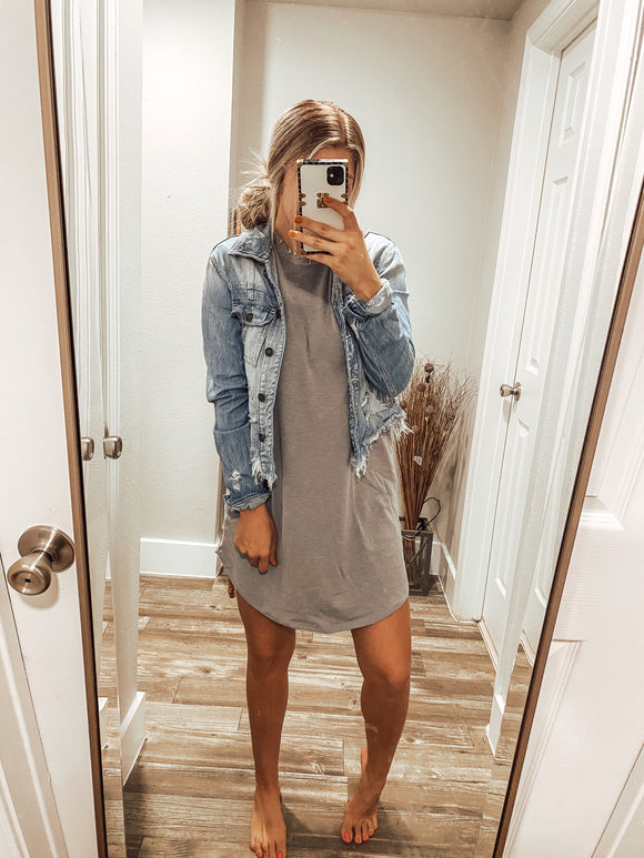 The Lacey Dress - Grey