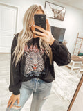 Rocker Vintage Sweatshirt - Black