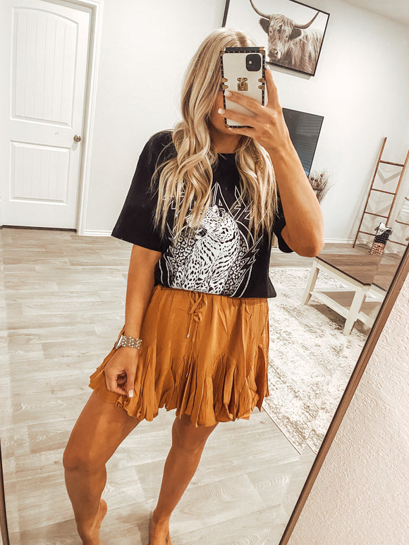 The Traci Skirt - Camel