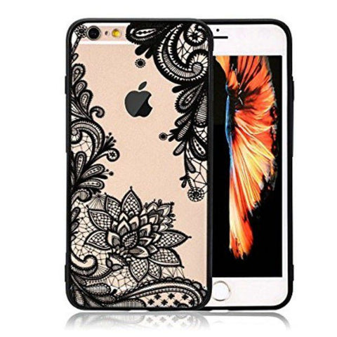 Floral Lace Henna Cover for iPhone 7 & 8 - Paw Prints & Curly Tails
