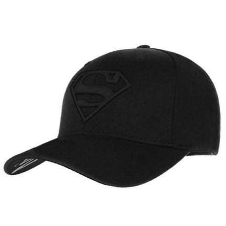 Black on Black Embroidered Superman Cap - Paw Prints & Curly Tails
