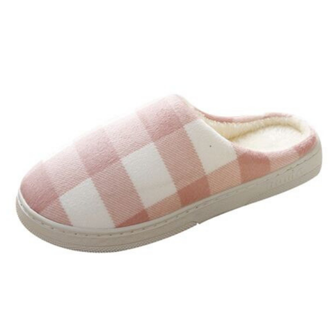 Checked Backless Slippers - Various Colours - Paw Prints & Curly Tails
