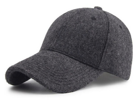 Brushed Charcoal Peak Cap - Paw Prints & Curly Tails